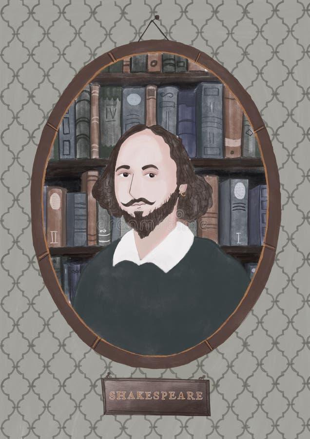 William Shakespeare vector illustration