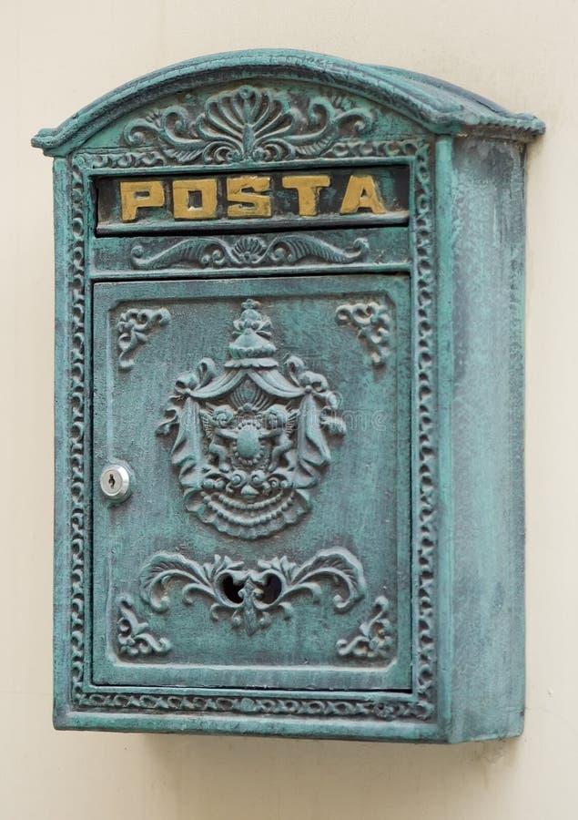 stylized retro för postbox arkivbild