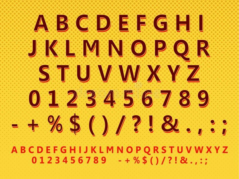 stylized retro set för bokstav vektor illustrationer