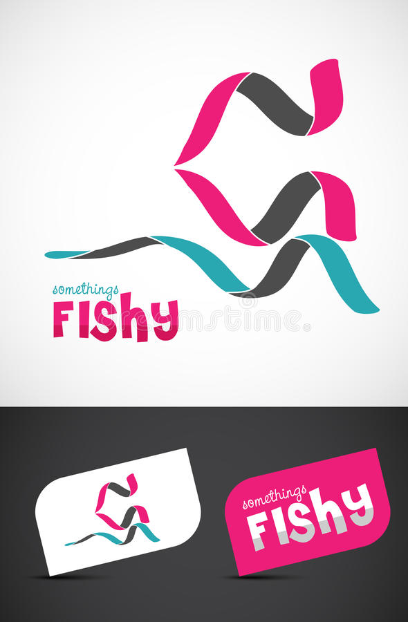 Download Stylized ribbon fish icon stock vector. Illustration of graphic - 22830856