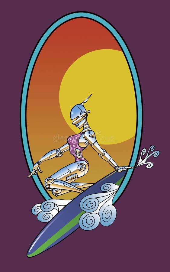SurfBot-A vector illustration