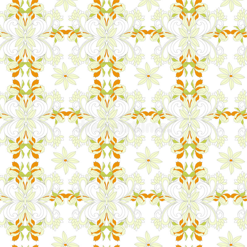 Download Stylized Seamless Wallpaper Stock Vector - Image: 24373242