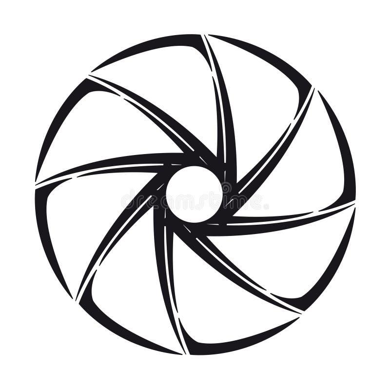 The stylized shutter of camera vector illustration