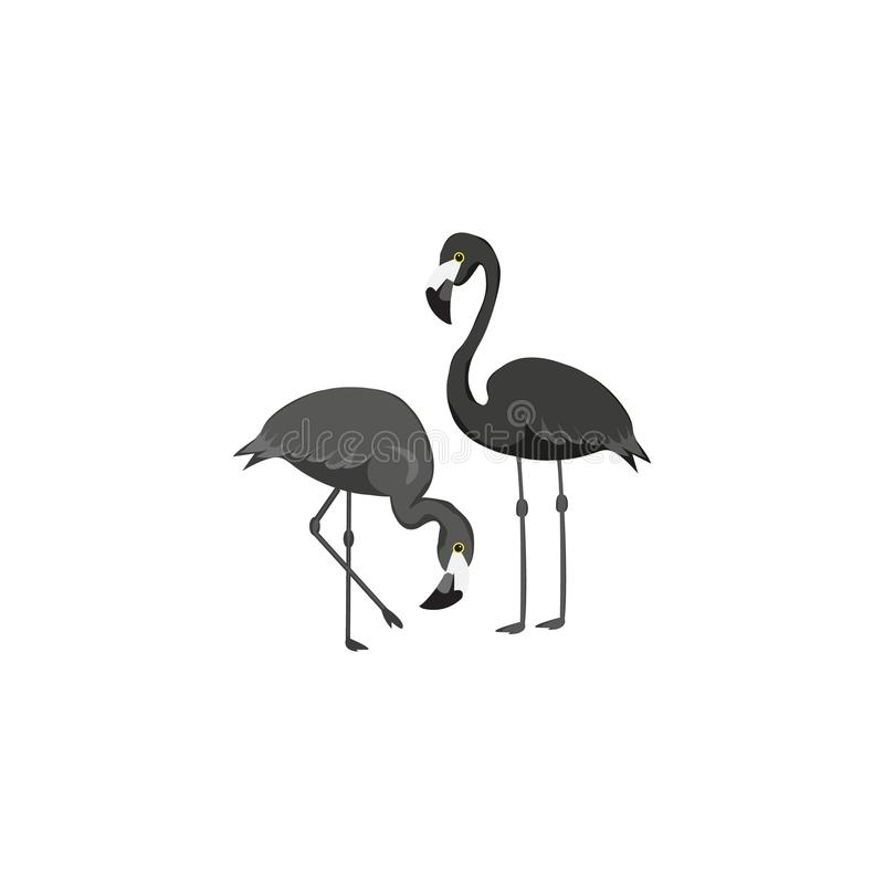 Stylized silhouette of a flamingo. Logo design for the company. royalty free illustration