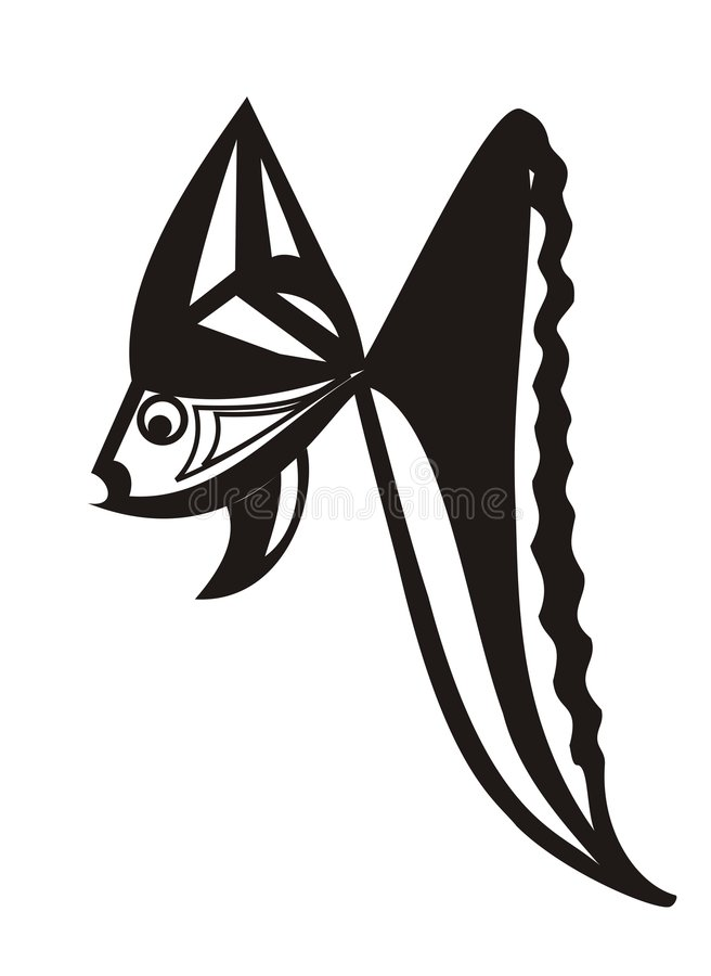 The stylized small fish. royalty free illustration