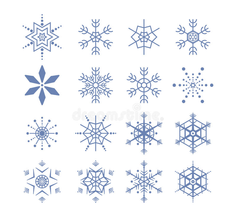Download Stylized snowflakes stock illustration. Image of decoration - 15864222
