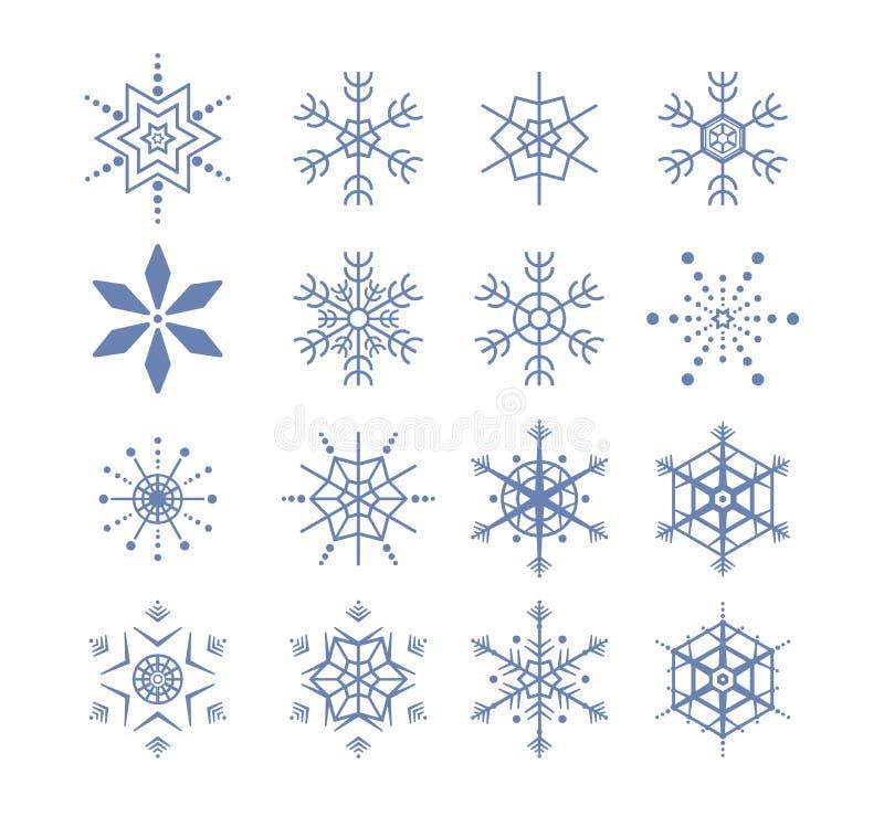 Stylized snowflakes stock photography