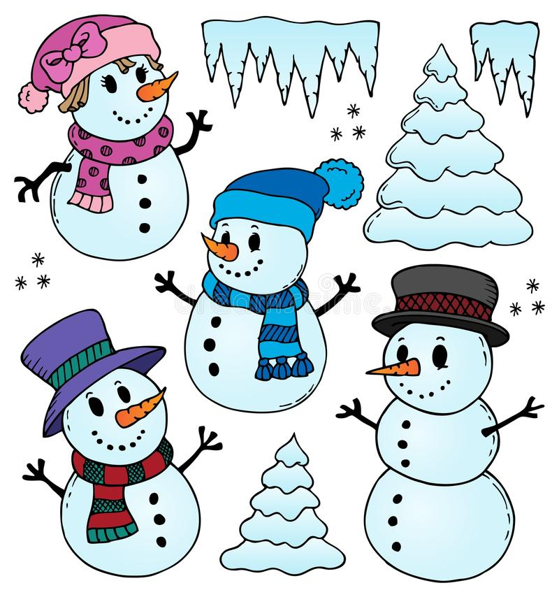icicle theme image 1 stock vector illustration of season