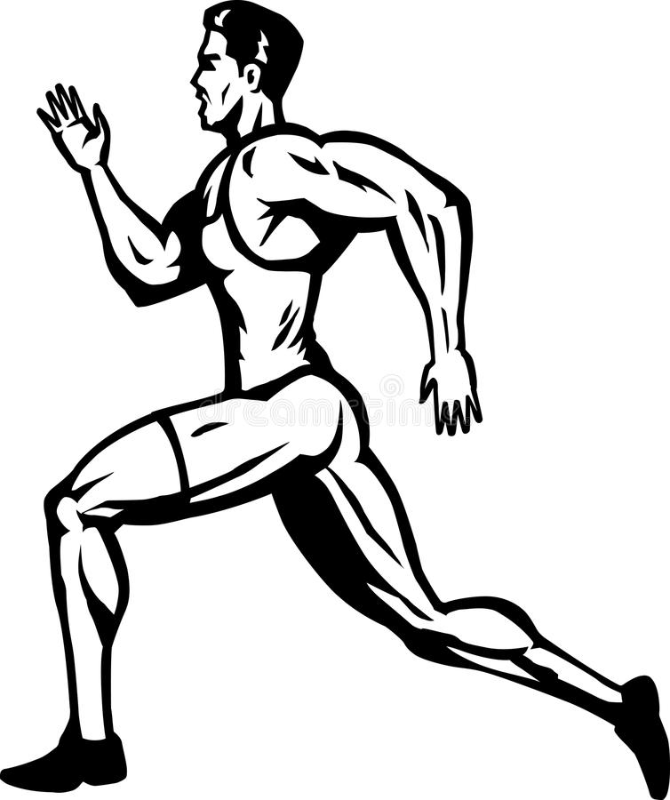 Download Stylized Sprinter stock vector. Image of sprinting, jogging - 14126018