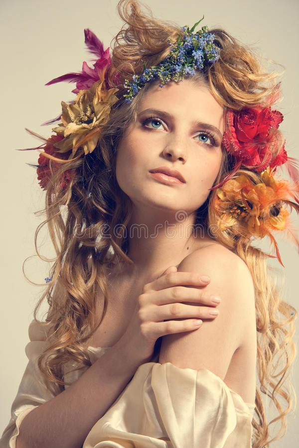 Stylized summer portrait royalty free stock image