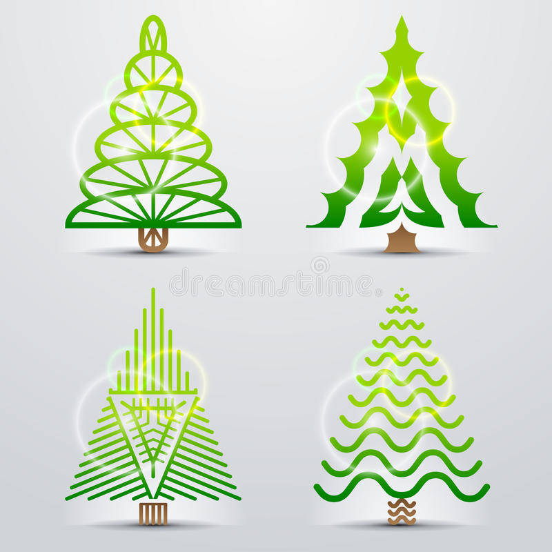 Download Stylized Symbols Of Christmas Tree Stock Vector - Image: 33987707