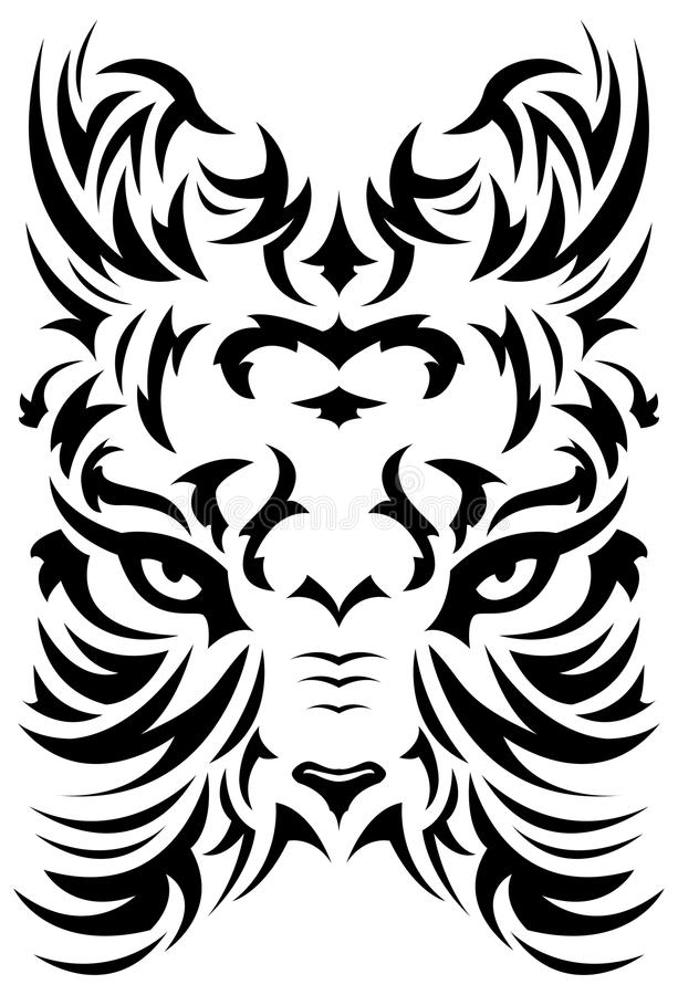 Download Stylized Tiger Face Symbol - Tattoo - Vector Stock Vector - Image: 22217446