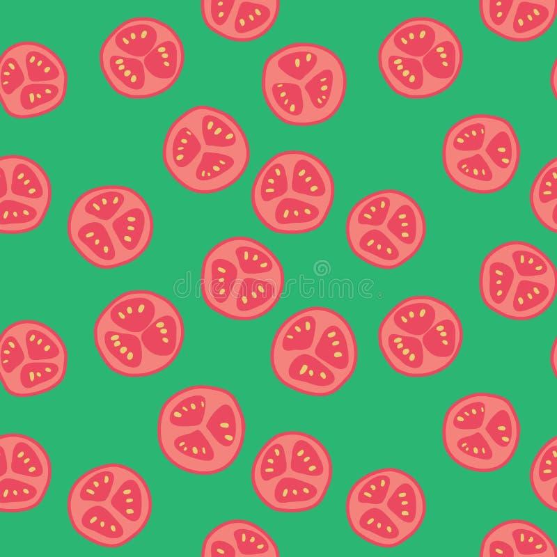 Stylized tomato pattern royalty free illustration