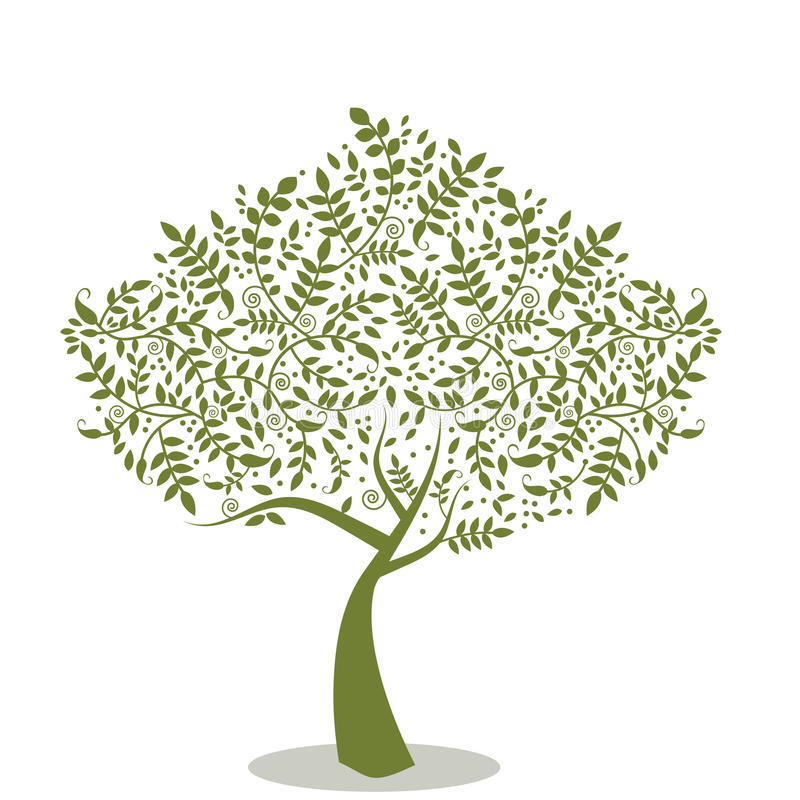 stylized tree vektor illustrationer