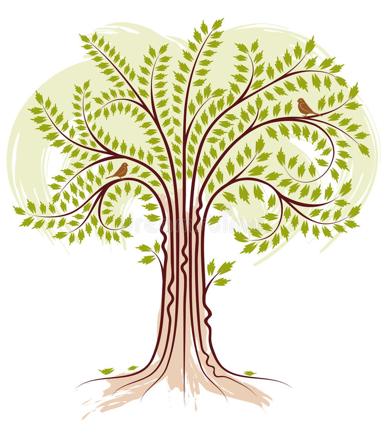 Download Stylized Tree stock vector. Image of drawing, leaf, brown - 13456887