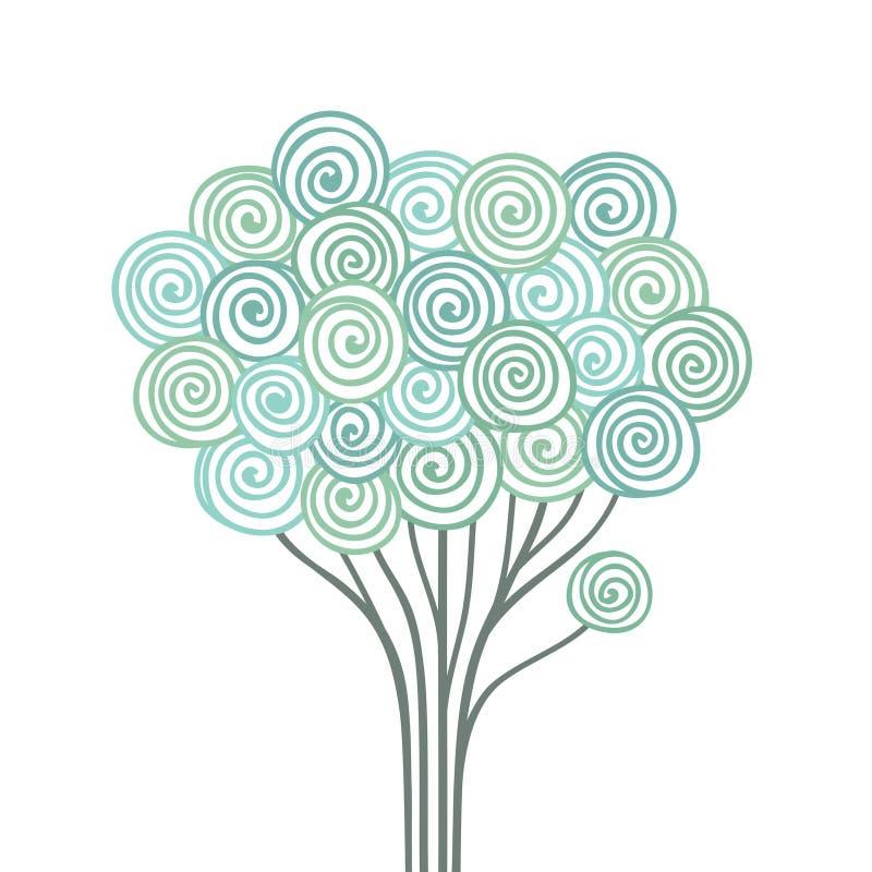 Stylized tree stock illustration
