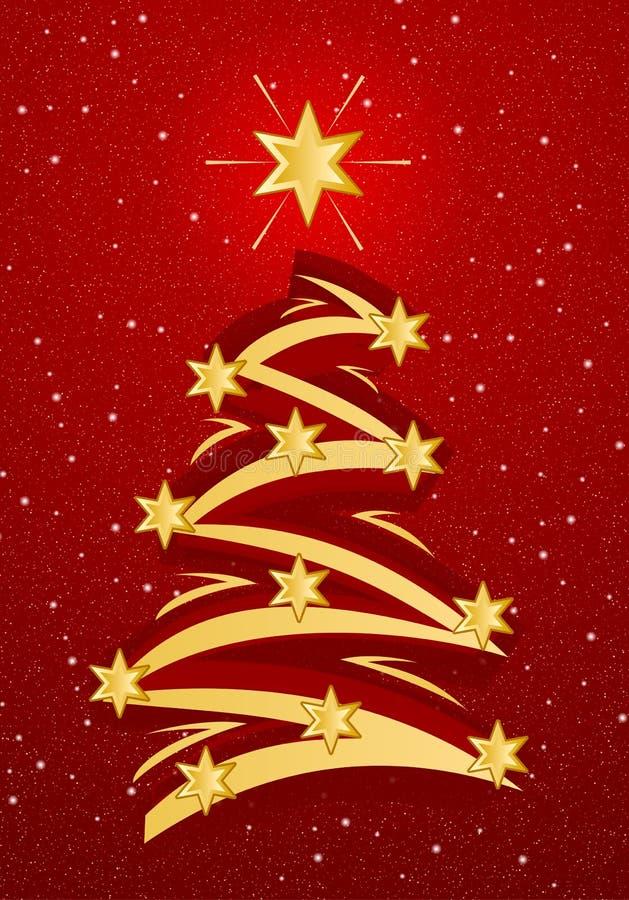 stylized tree för jul illustation vektor illustrationer