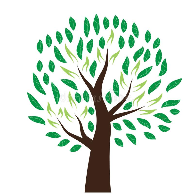 Stylized tree vector. Is a general illustration royalty free illustration