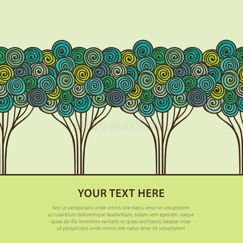 Download Stylized trees stock vector. Illustration of decorative - 27455730