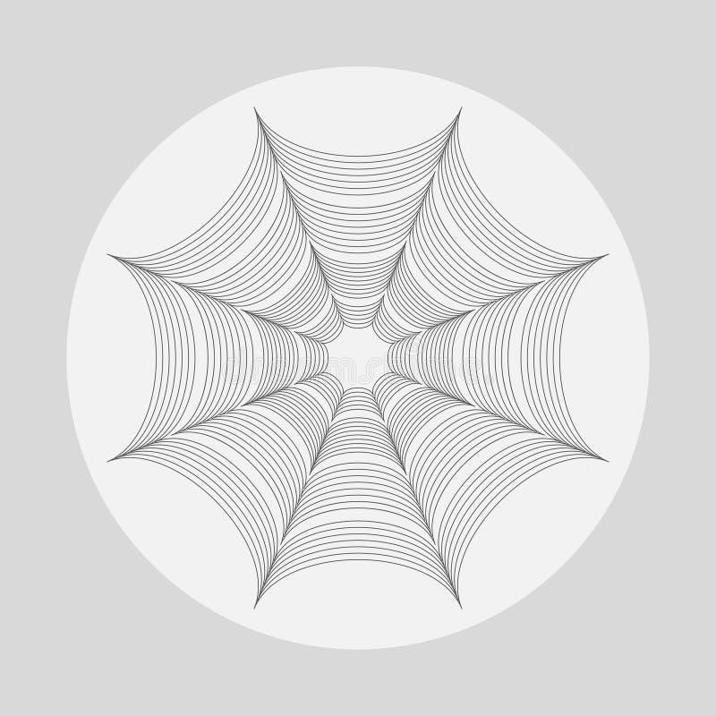 Minimalist stylized Halloween poster template with cobweb stock image