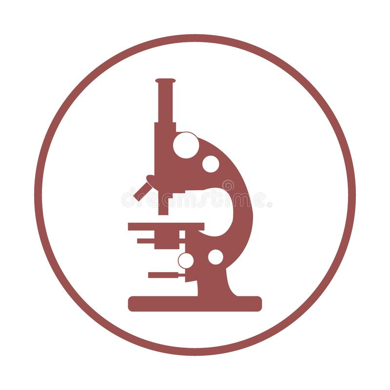 Stylized Vector Icon Of Microscope Laboratory Equipment Symbol