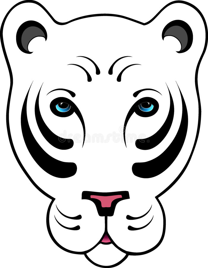 Download Stylized White Tiger Stock Photography - Image: 318502