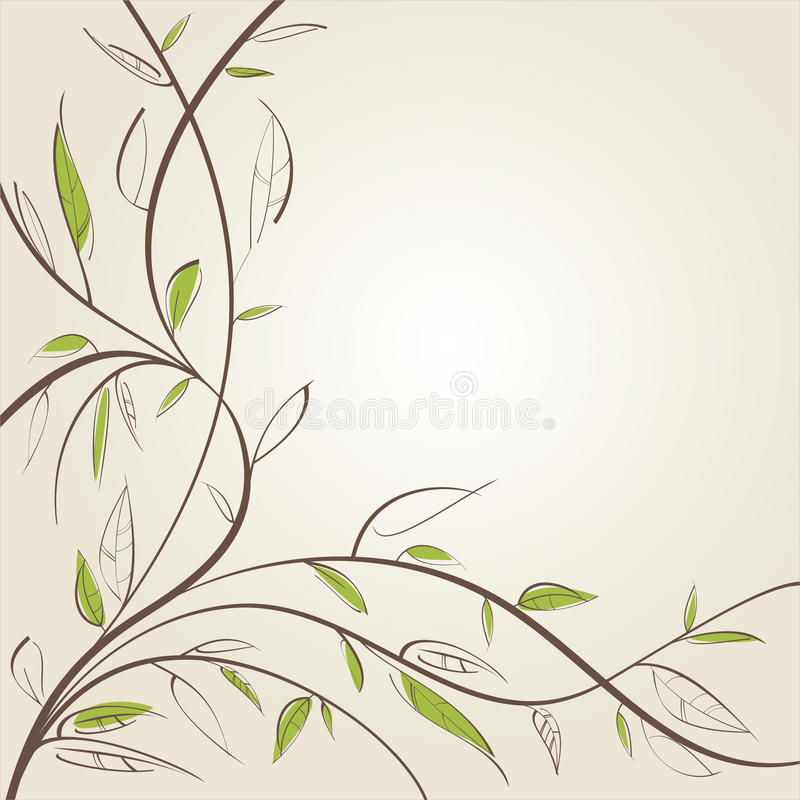 Download Stylized willow stock vector. Illustration of branch - 18345965