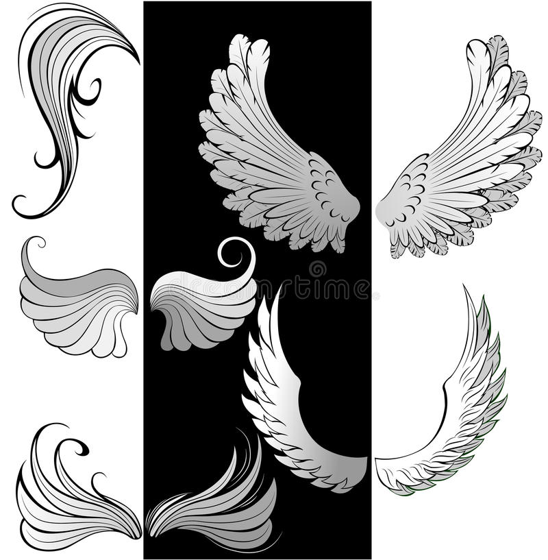 Stylized Wings Stock Images