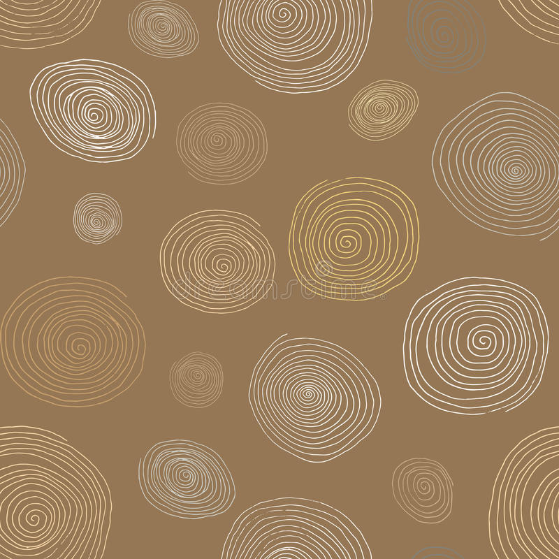 download stylized wooden spirals hand drawn seamless pattern for interior design wallpapers stock image