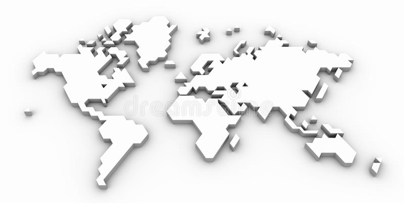 Stylized World Map stock photos