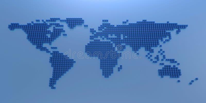 Stylized World Map Stock Images