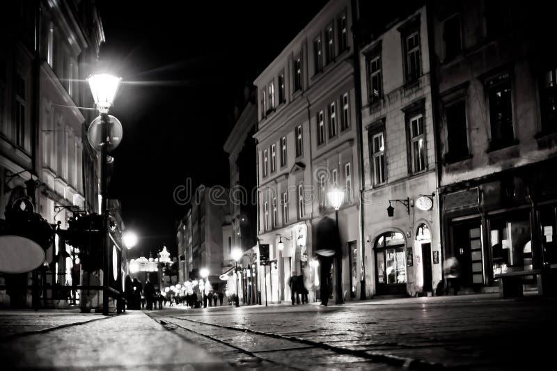 Stylizowana fotografia miasto stara ulica obraz stock