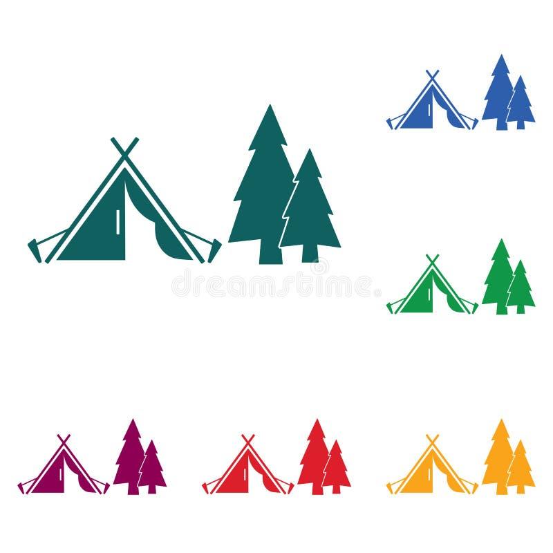 Download Stylizowana Ikona Turystyczny Namiot Ilustracja Wektor - Ilustracja złożonej z symbol, czop: 106915889