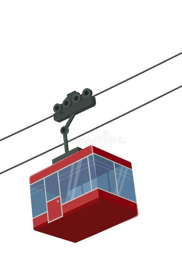 Stylizowana wektorowa ilustracja odosobniona cableway gondola ilustracja wektor