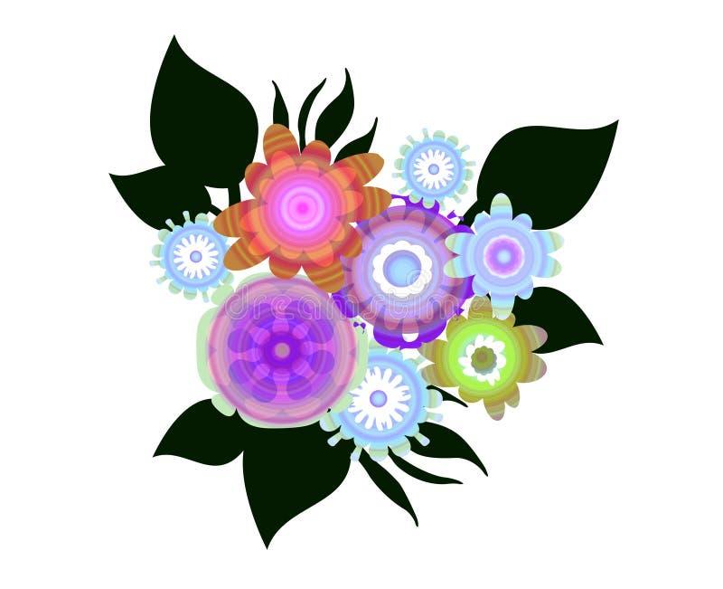 Stylizowani kwiaty ilustracja wektor