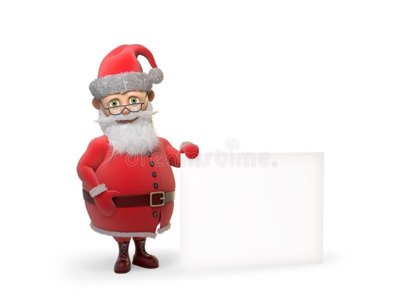 Stylizowany Święty Mikołaj charakter ilustracja wektor