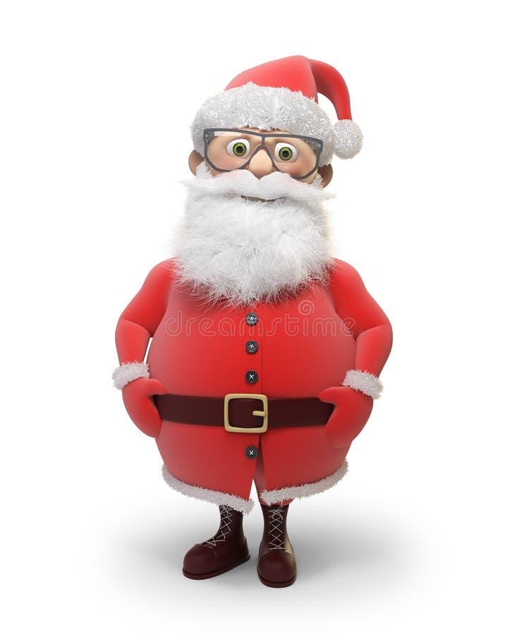 Stylizowany Święty Mikołaj charakter royalty ilustracja