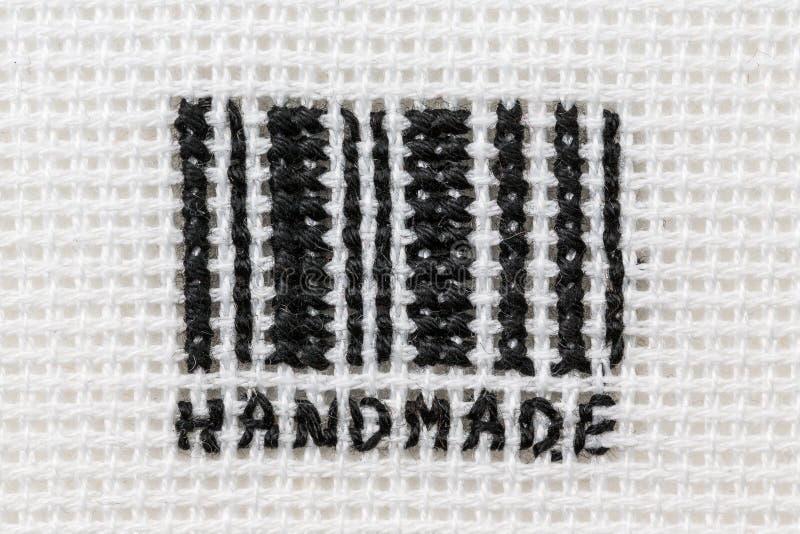 Stylizowany barcode, haftujący obraz stock