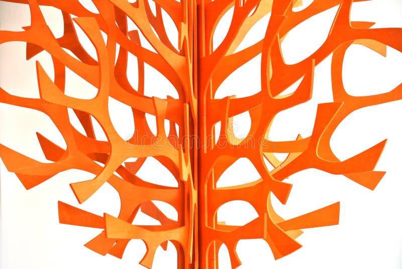 Stylizowany drewniany drzewo zdjęcia stock
