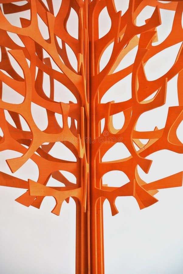Stylizowany drewniany drzewo zdjęcie royalty free