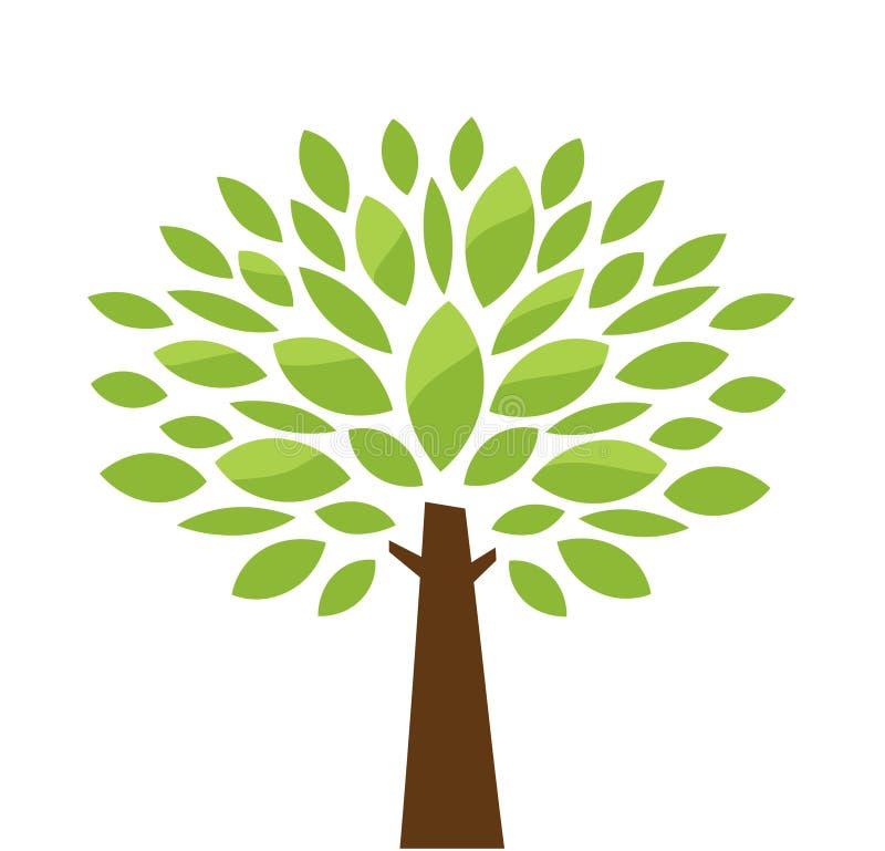 stylizowany drzewo royalty ilustracja