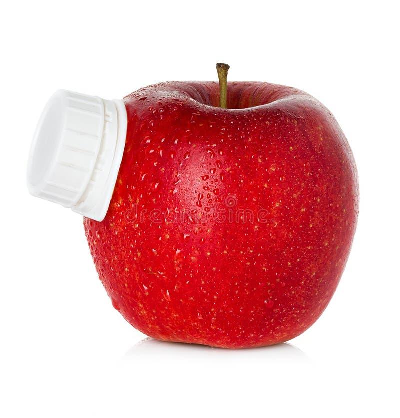Stylizowany jabłczanego soku pakunek zdjęcia royalty free