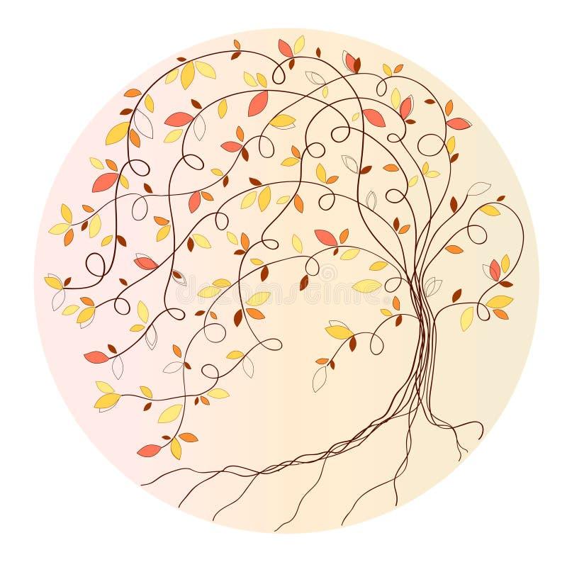 stylizowany jesień drzewo ilustracja wektor