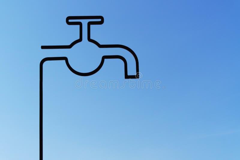 Stylizowany klepnięcie i niebieskie niebo dno zdjęcie stock