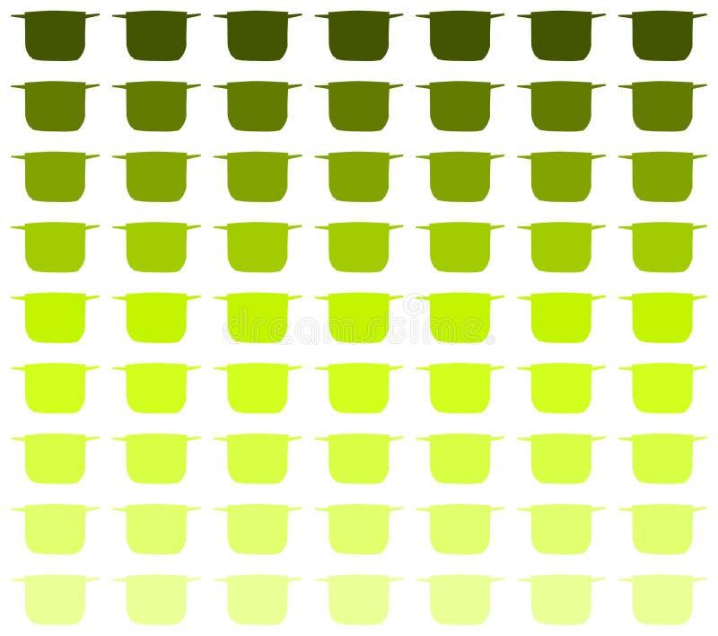 Stylizowany Kolorowy txture z stylizowanymi garnkami ilustracja wektor
