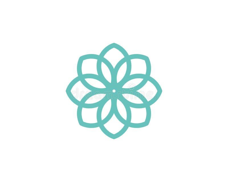 Stylizowany lotosowego kwiatu ikony wektoru tło zdjęcia stock