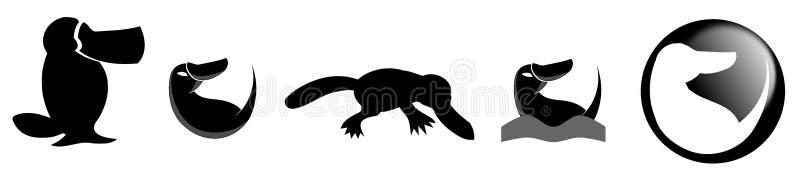 Stylizowany platypus ilustracja wektor