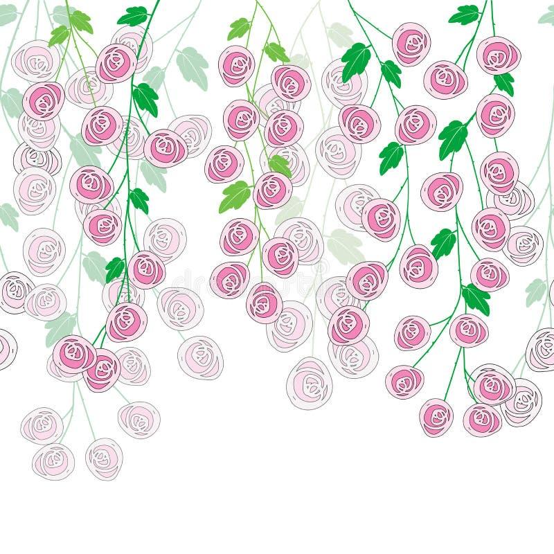 Stylizowany róży ulistnienie royalty ilustracja