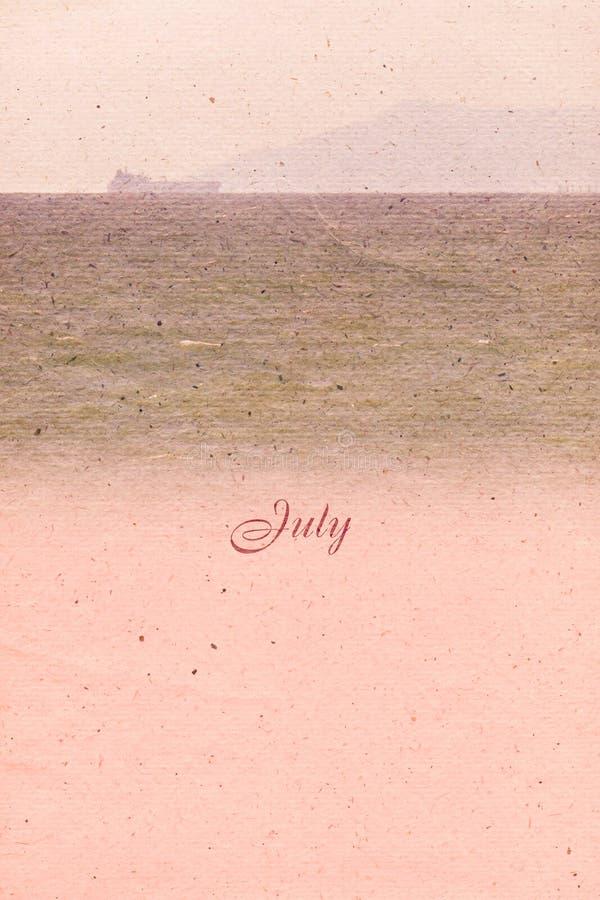 Stylizowany rocznika tło dla kalendarzowego miesiąca bigos royalty ilustracja