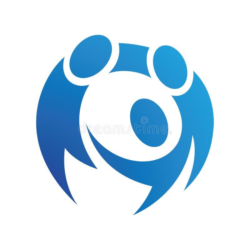 Stylizowany Round logo grupa ludzi royalty ilustracja